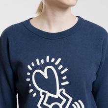 Женская толстовка Lacoste x Keith Haring 3D Print Crew Neck Blue/White фото- 3