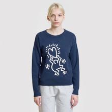 Женская толстовка Lacoste x Keith Haring 3D Print Crew Neck Blue/White фото- 2