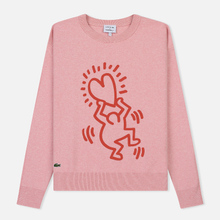 Женская толстовка Lacoste x Keith Haring 3D Print Crew Neck Pink/Red фото- 0