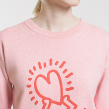 Женская толстовка Lacoste x Keith Haring 3D Print Crew Neck Pink/Red фото- 3