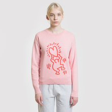 Женская толстовка Lacoste x Keith Haring 3D Print Crew Neck Pink/Red фото- 1