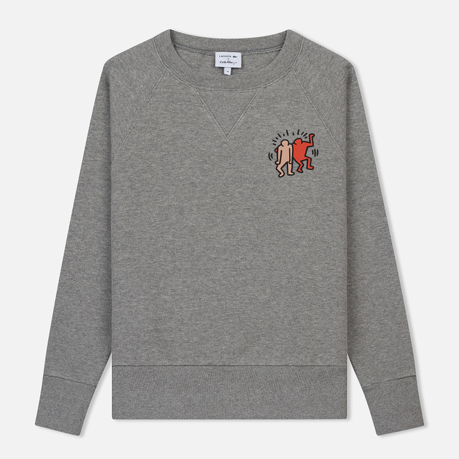 Женская толстовка Lacoste x Keith Haring Print Crew Neck Grey Chine