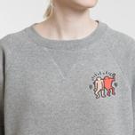 Женская толстовка Lacoste x Keith Haring Print Crew Neck Grey Chine фото- 3