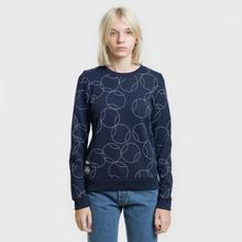 Женская толстовка Lacoste x Roland Garros Ball Print Fleece Navy Blue/White фото- 1