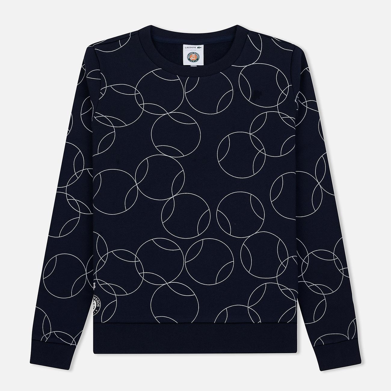 Женская толстовка Lacoste x Roland Garros Ball Print Fleece Navy Blue/White