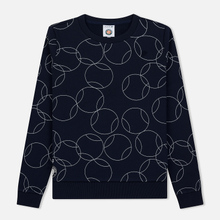 Женская толстовка Lacoste x Roland Garros Ball Print Fleece Navy Blue/White фото- 0