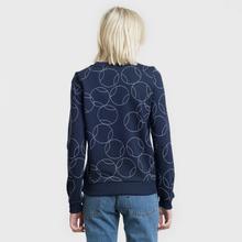Женская толстовка Lacoste x Roland Garros Ball Print Fleece Navy Blue/White фото- 3
