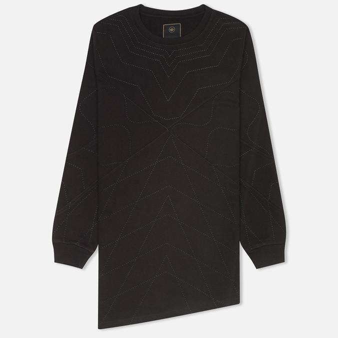 maharishi Asym Quilted Crew Women's Sweatshirt Black