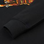 Женская толстовка maharishi Leopard Embroidery Crew Navy фото- 3