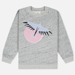 Maison Kitsune Bird Women's Sweatshirt Grey Melange photo- 0