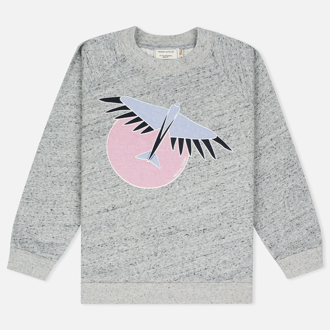 Maison Kitsune Bird Women's Sweatshirt Grey Melange