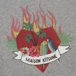 Женская толстовка Maison Kitsune Burning Heart Grey Melange фото- 2