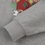 Женская толстовка Maison Kitsune Burning Heart Grey Melange фото- 3