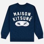 Женская толстовка Maison Kitsune Fox Eyes Indigo фото- 0