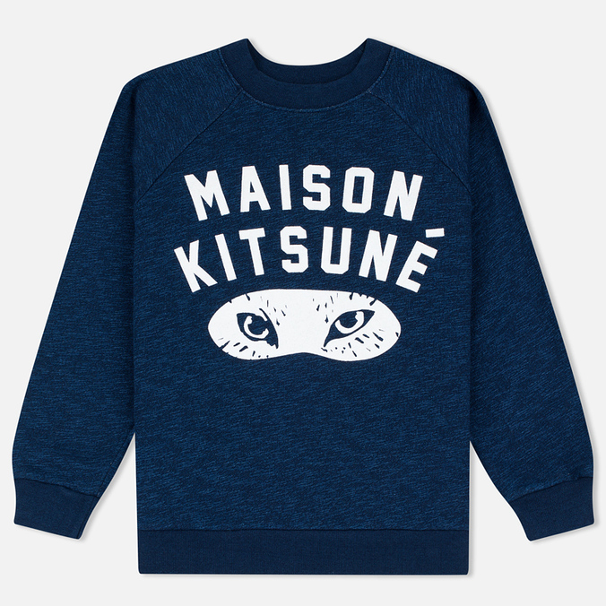 Женская толстовка Maison Kitsune Fox Eyes Indigo