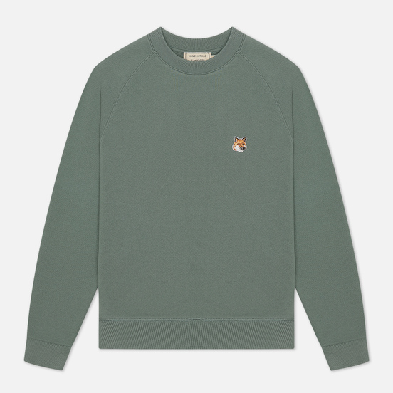 Женская толстовка Maison Kitsune Fox Head Patch Blue/Green