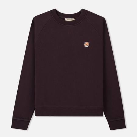 Женская толстовка Maison Kitsune Fox Head Patch Burgundy