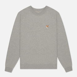 Женская толстовка Maison Kitsune Fox Head Patch Grey Melange