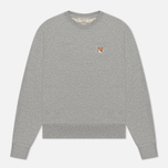 Женская толстовка Maison Kitsune Fox Head Patch Grey Melange фото- 0