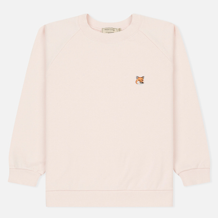 Женская толстовка Maison Kitsune Fox Head Patch Light Pink