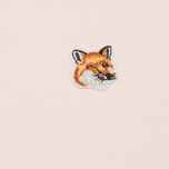 Женская толстовка Maison Kitsune Fox Head Patch Light Pink фото- 2