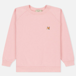 Женская толстовка Maison Kitsune Fox Head Patch Pink фото- 0
