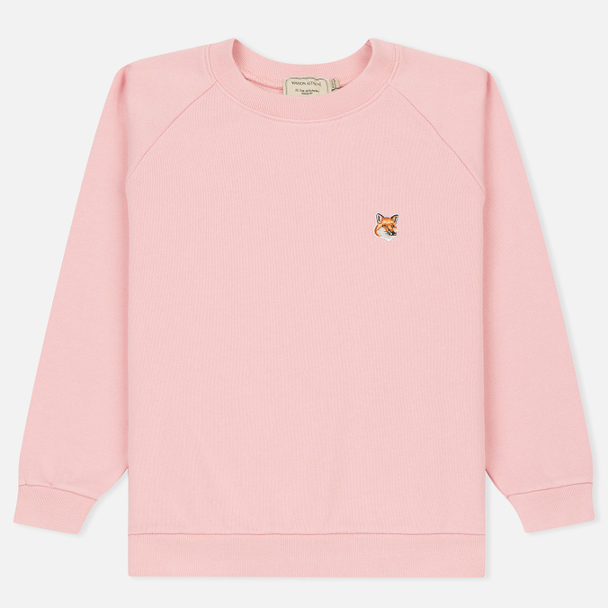Женская толстовка Maison Kitsune Fox Head Patch Pink