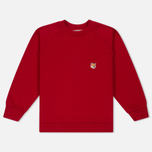 Женская толстовка Maison Kitsune Fox Head Patch Red фото- 0