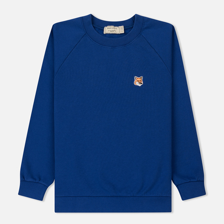 Женская толстовка Maison Kitsune Fox Head Patch Royal Blue