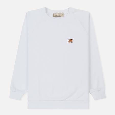 Женская толстовка Maison Kitsune Fox Head Patch White