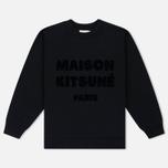 Женская толстовка Maison Kitsune Hair Print Black фото- 0