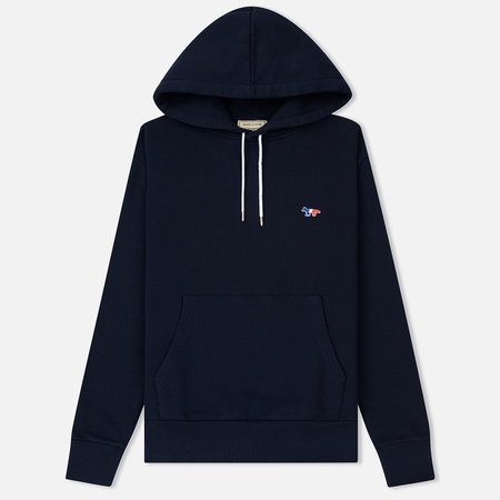 Мужская толстовка Maison Kitsune Hoodie Tricolor Fox Patch Navy