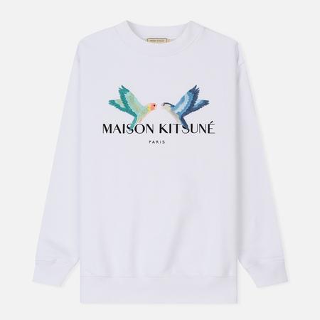 Женская толстовка Maison Kitsune Love Birds White
