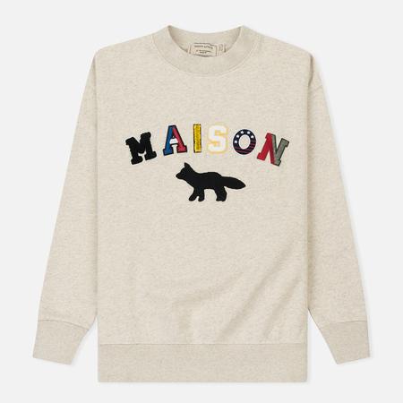 Женская толстовка Maison Kitsune Maison Fox Ecru Melange