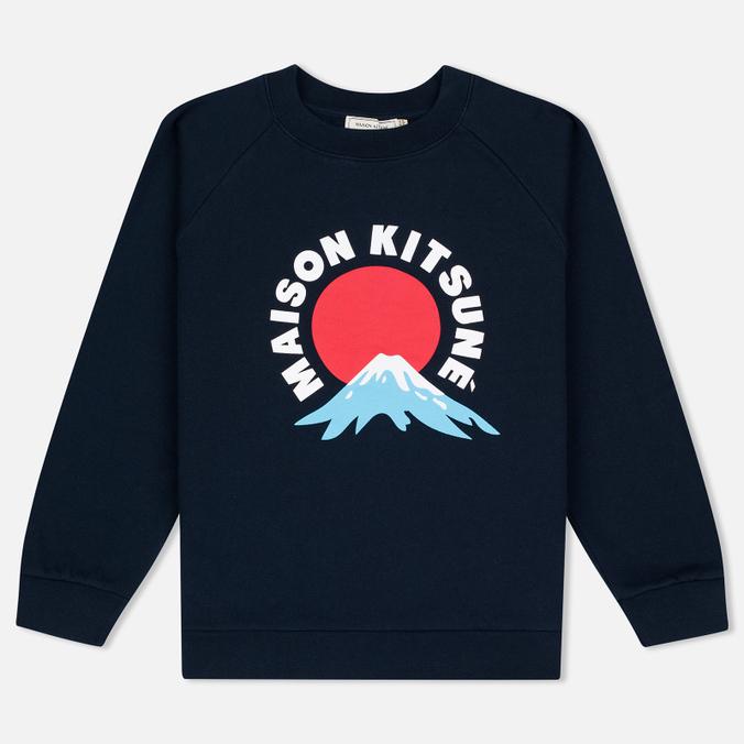 Женская толстовка Maison Kitsune Mont Fuji Navy