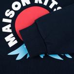 Женская толстовка Maison Kitsune Mont Fuji Navy фото- 3