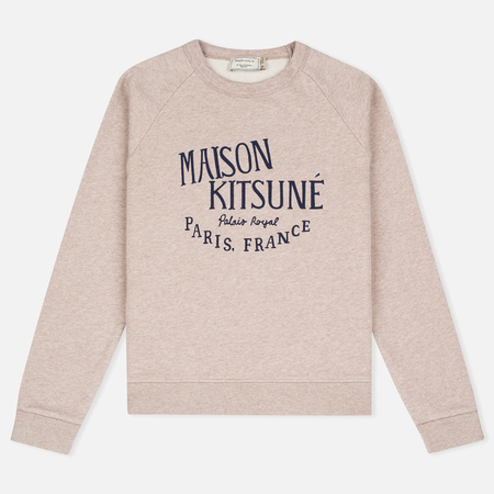 Maison Kitsune Palais Royal Women's Sweatshirt Beige Melange