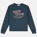 Женская толстовка Maison Kitsune Palais Royal Blue Storm фото- 0