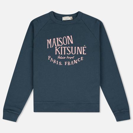 Maison Kitsune Palais Royal Women's Sweatshirt Blue Storm