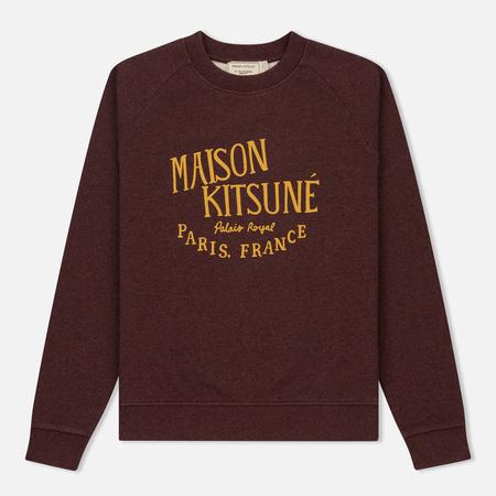 Женская толстовка Maison Kitsune Palais Royal Burgundy Melange
