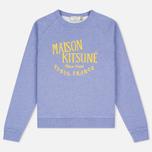 Женская толстовка Maison Kitsune Palais Royal Lavender Blue фото- 0