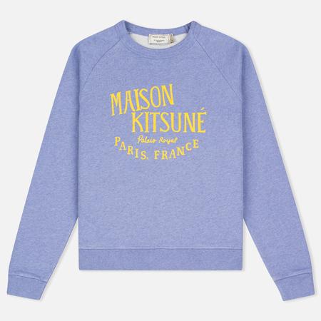 Maison Kitsune Palais Royal Women's Sweatshirt Lavender Blue