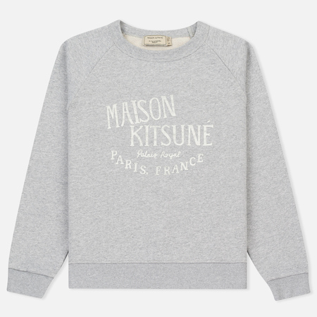 Женская толстовка Maison Kitsune Palais Royal Light Grey Melan