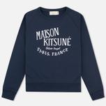 Женская толстовка Maison Kitsune Palais Royal Navy фото- 0