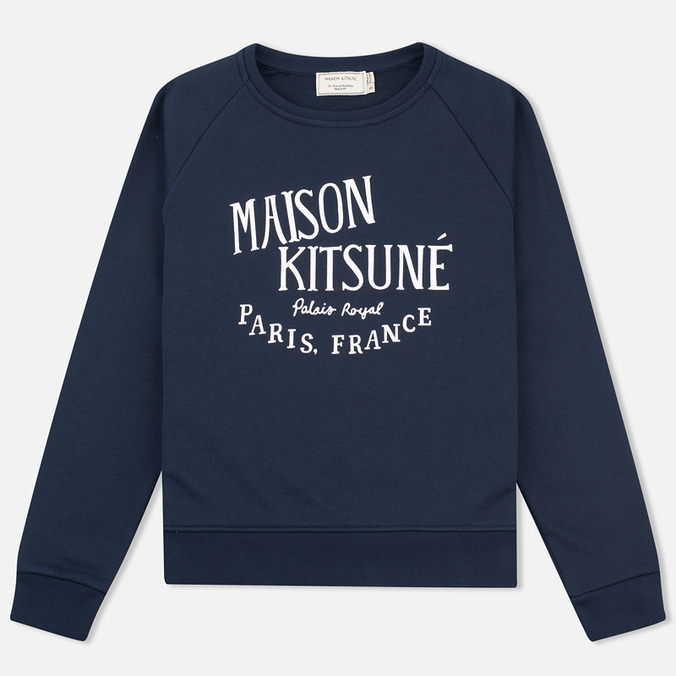 Женская толстовка Maison Kitsune Palais Royal Navy