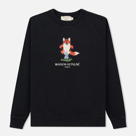Женская толстовка Maison Kitsune Pixel Fox Black