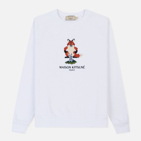 Женская толстовка Maison Kitsune Pixel Fox White