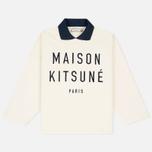Женская толстовка Maison Kitsune Polo Cropped Ecru фото- 0