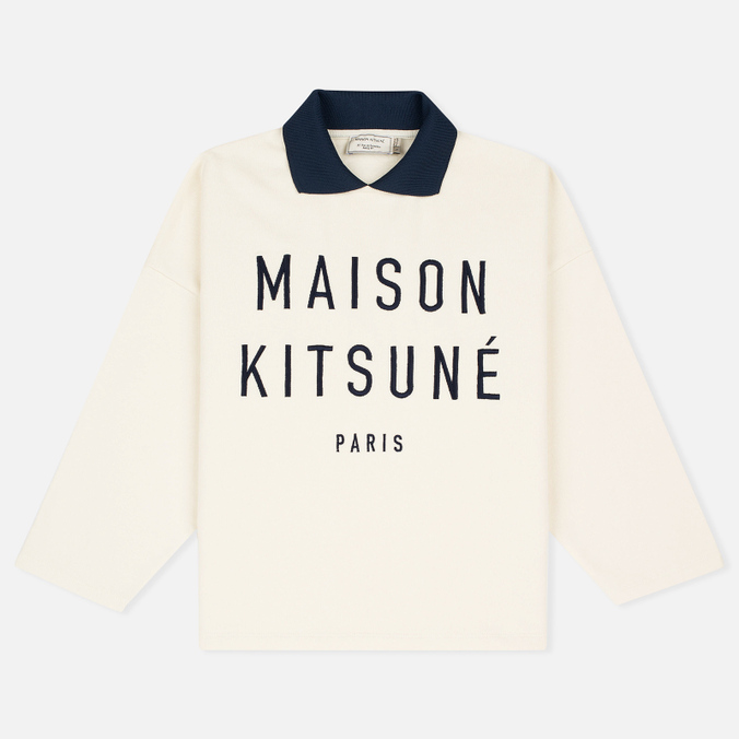 Женская толстовка Maison Kitsune Polo Cropped Ecru