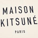 Женская толстовка Maison Kitsune Polo Cropped Ecru фото- 2